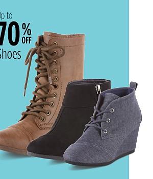 Ahorra hasta 70% en zapatos