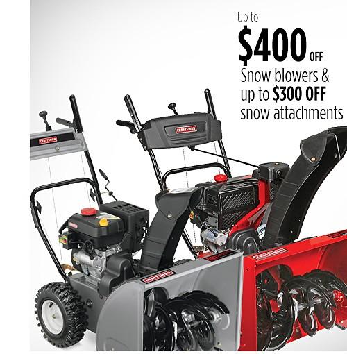 Hasta $400 de ahorro en sopladoras de nieve | Hasta $300 de descuento en anexos para nieve