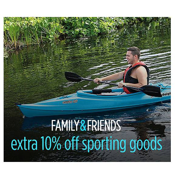 Extra 10% off sporting goods