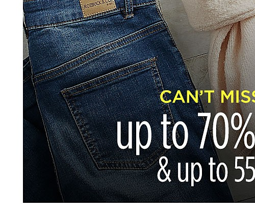 Can't miss clearance | up to 70% off clothes & up to 55% off shoes