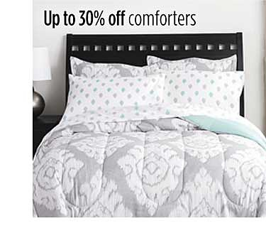 Up to 30% off comforters