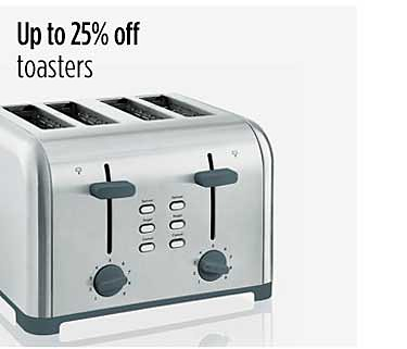 Up to 25% off toasters
