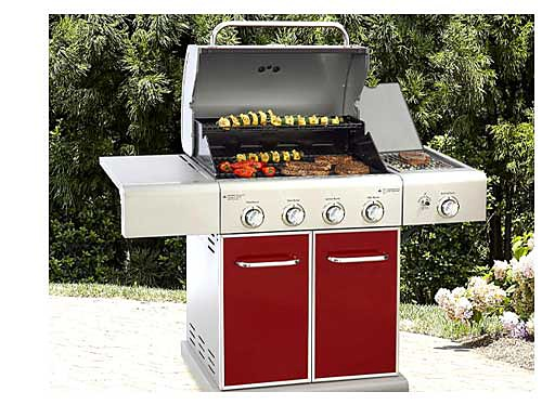 Kenmore 4-Burner LP Gas Grill with Side Burner