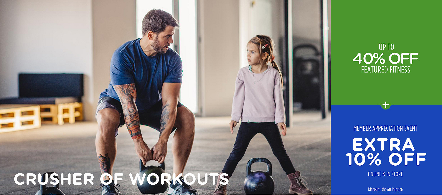 Up to 40% off featured fitness + an extra 10% off
