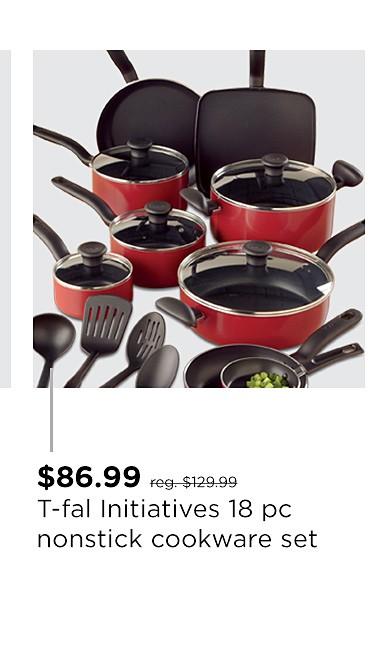 T-fal Initiatives 18 pc. Nonstick Cookware Set