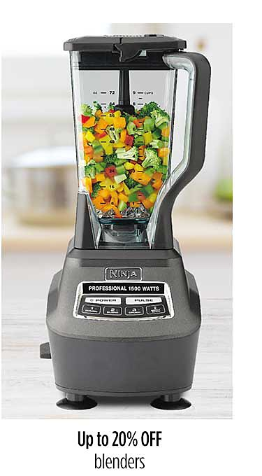 Up to 20% off blenders