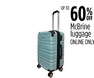 Hasta 60% de descuento en equipaje McBrine