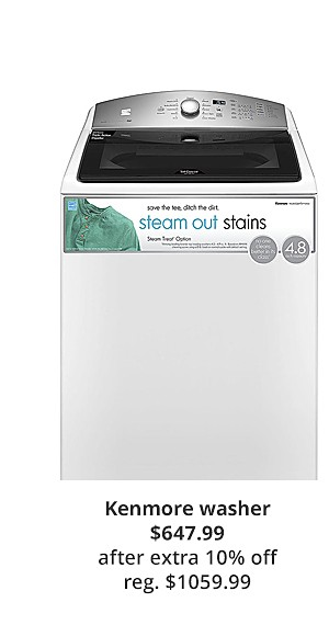 Kenmore 27132 4.8 cu. ft. Top Load Washer w/Steam Treat