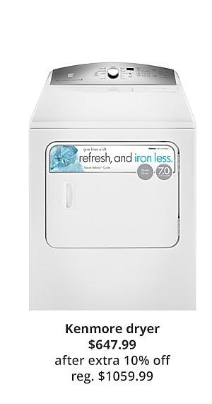 Kenmore 67132 7.0 cu. ft. Electric Dryer