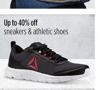 Up to 40% off athletic shoes
