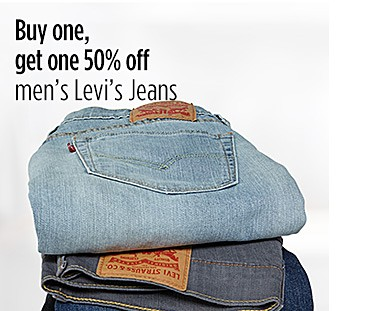 Buy One Get One 50% off Men's Levi's Jeans