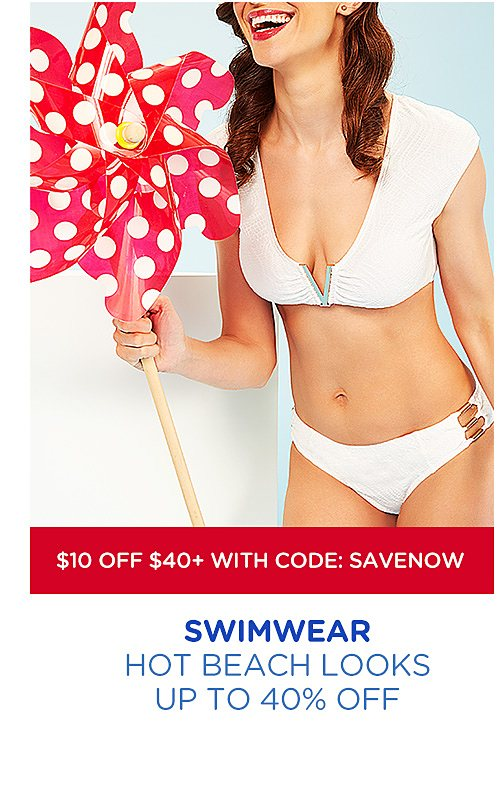 Up to 40% off swimwear