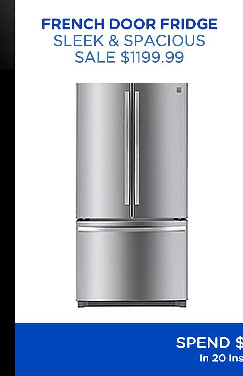 French door fridge $1199.99