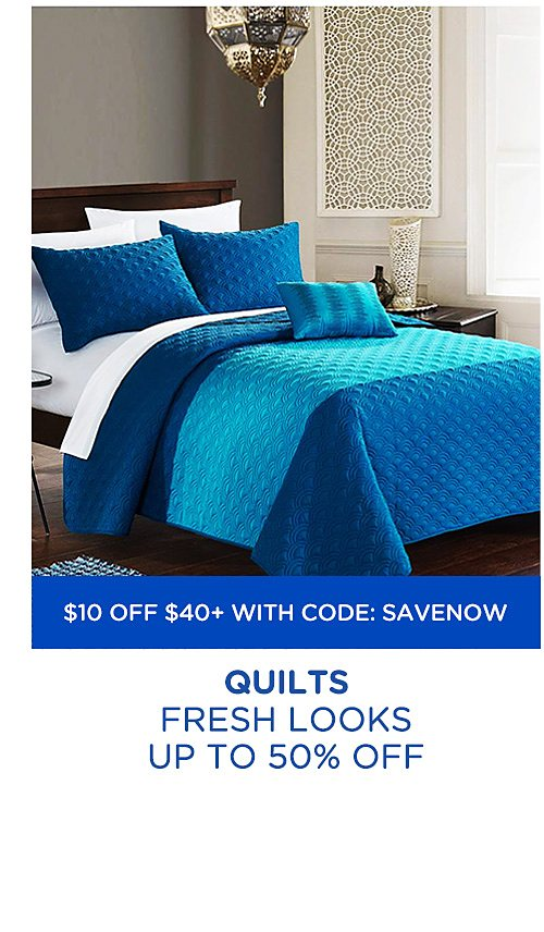 Up to 50% off quilts
