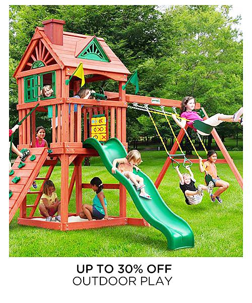 Up to 30% off outdoor play