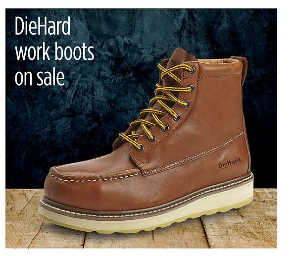 DieHard work boots on sale