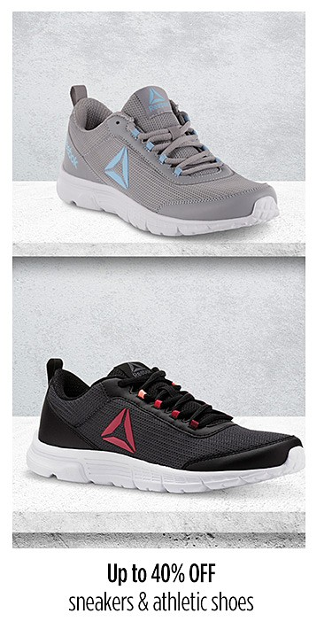 Up to 40% off sneakers and athletic shoes