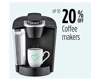 Up to 20% off Coffee Makers