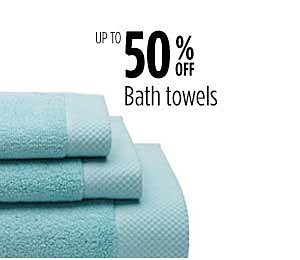Up to 50% off Bath Towels