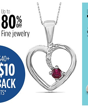 up to 80% off Fine Jewelry