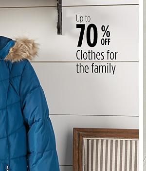 Hasta 70% de descuento en ropa para la familia
