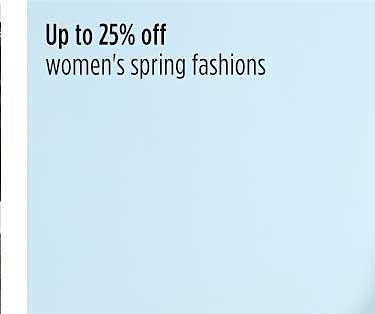 Hasta 25% de descuento en moda de primavera para mujer