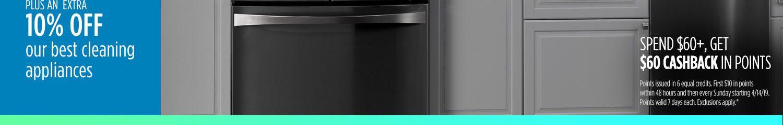 10% de descuento extra en electrodomésticos para limpiar