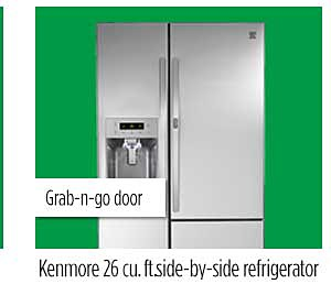 Kenmore 26 cu. ft. side-by-side refrigerator