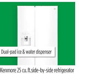 Kenmore 25 cu. ft. side-by-side refrigerator