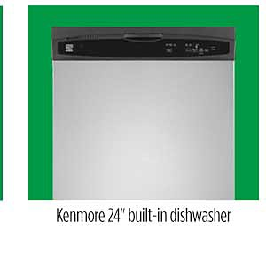 "Kenmore 13803 24"" Built-In Dishwasher"