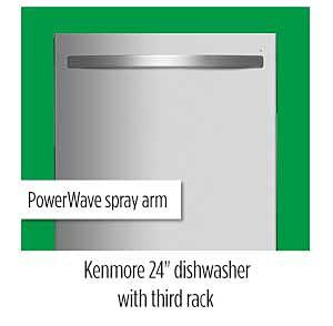 "Kenmore 14573 24"" Dishwasher with Third Rack"
