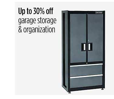 Up to 30% off garage storage & organization