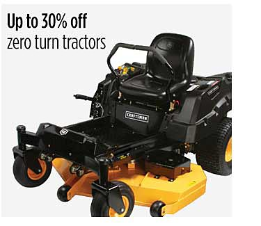 Up to 30% off zero turn tractors