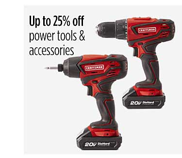 Up to 25% off power tools