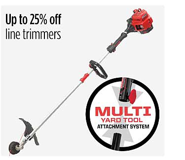 Up to 25% off line trimmers