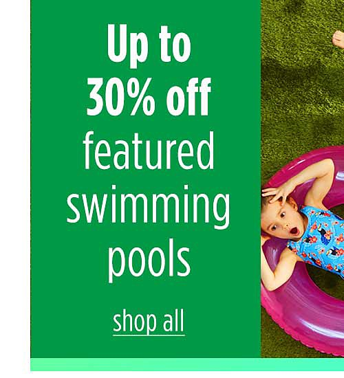 Up to 30% off featured swimming pools