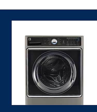 Enhance stain removal with Kenmore Elite washers with steam technology