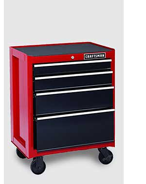 "Craftsman 26"" 4-Drawer Heavy-Duty Rolling Cabinet"
