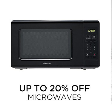 Up to 20% off microwaves