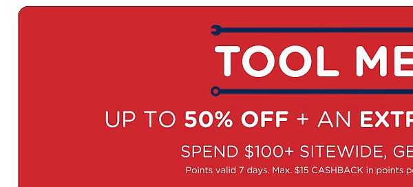 Mega Tool Sale | Up to 50% off plus an extra 10% off