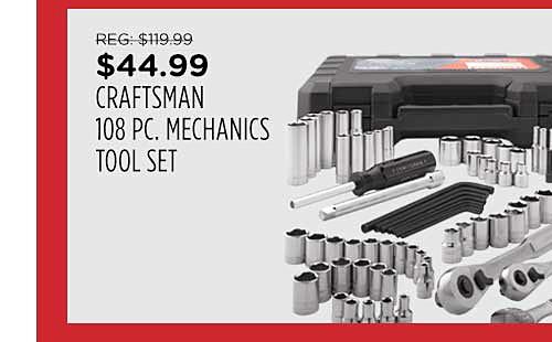 Craftsman 108 pc. Mechanic's Tool Set