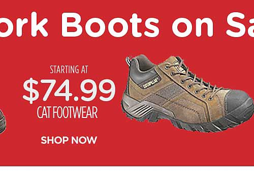 Starting at $74.99 Cat Footwear work boots