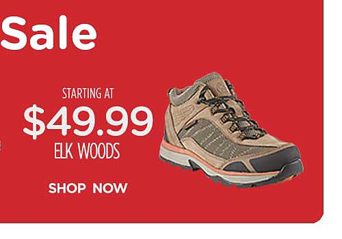 Starting at $49.99 Elk Woods work boots