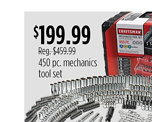450 pc Mechanic's tool set