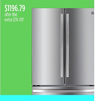 Kenmore 26.1 cu. ft. French Door Refrigerator, $1179.76