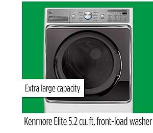 Kenmore Elite 5.2 cu. ft. front-load washer