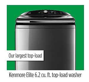 Kenmore Elite 6.2 cu. ft. top-load washer
