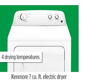 Kenmore 62332 7.0 cu. ft. Electric Dryer