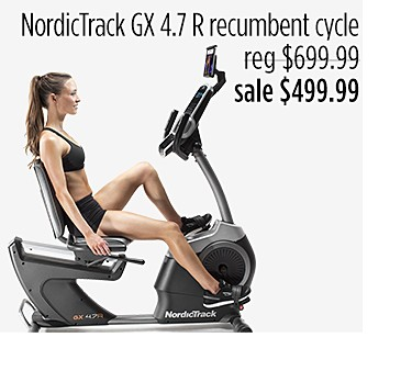NordicTrack GX 4.7 R Recumbent Cycle w/ iFit Coach 1 YR Membership