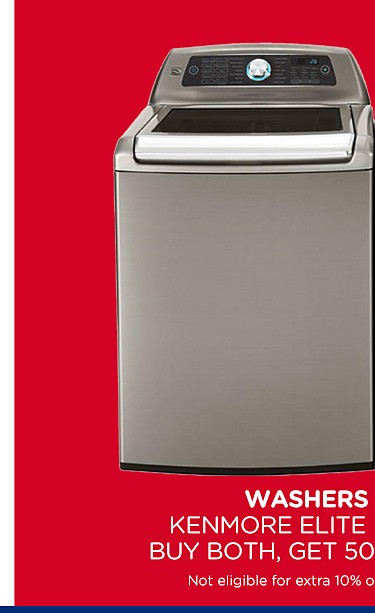 50% off Kenmore Elite laundry pairs